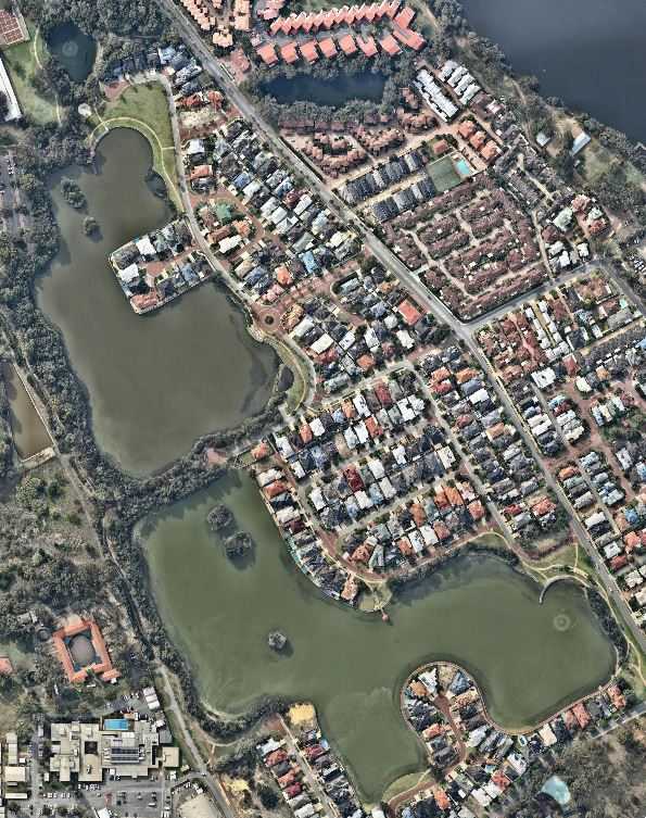 Bathymetric SurveyAerial Photo Lakes - Maylands Lakes